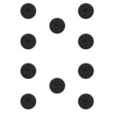 10 Bases redondas de plástico (25mm)