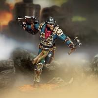 Capitán Hammerica (maza, pistola, escudo y armadura metálica)